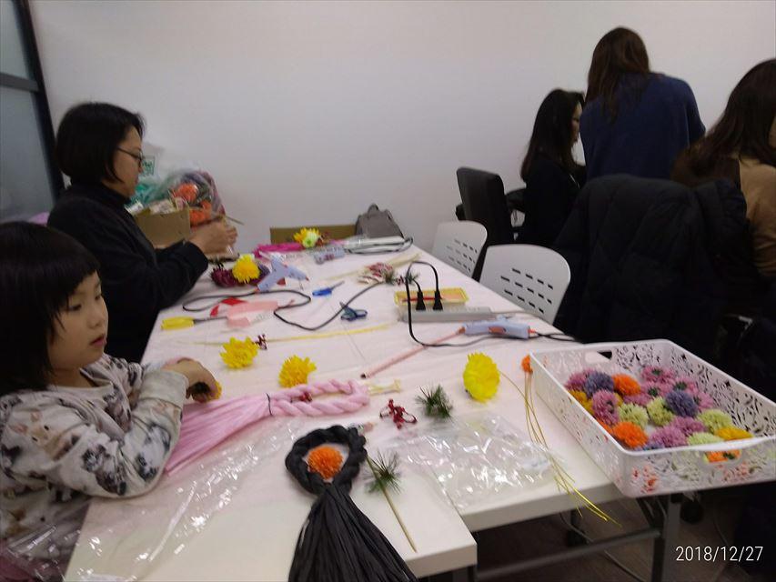 【中央区】EPARKスクールで子供とスタジオFioremeでハンドメイドしめ縄飾りを作ってみた。